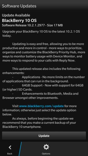 Official Rollout: BlackBerry OS 10 2 1 3247 – HWZBB